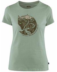 Fjallraven Camiseta Arctic Fox Print - Verde