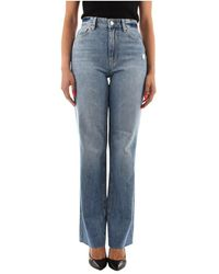 Guess W1Ya33 Wide Jeans - Blu