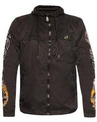 Philipp Plein Jacket With Logo - Zwart