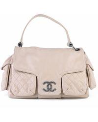 Chanel Pre-owned Multi Pocket Shoulder Bag - Natur