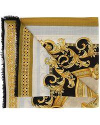 Versace Châle imprimé baroque - Jaune