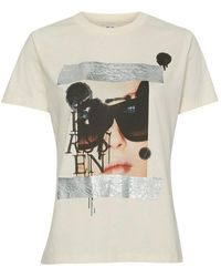 Zoe Karssen Holly Taped Picture Tee - Blanc
