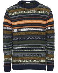 Knowledge Cotton Apparel Sweatshirt - Blauw