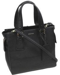 Armani Leather Satchel - Zwart
