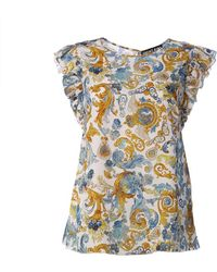 Versace Jeans Couture Top Barocco - Blu