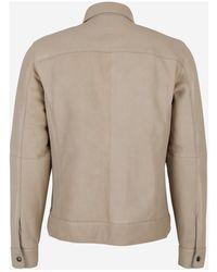 AJMONE Lamb leather jacket - Neutre