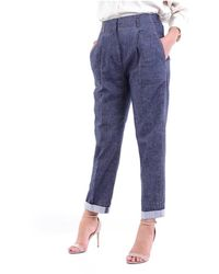 Peserico P04532L102482 Cropped jeans - Bleu