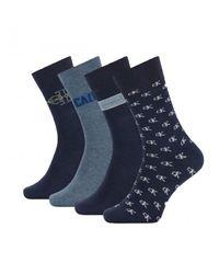 Calvin Klein - Pack 4 Calcetines - Lyst