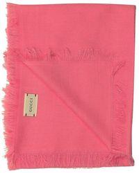 Gucci Scialle Sammy 90x90 - Roze