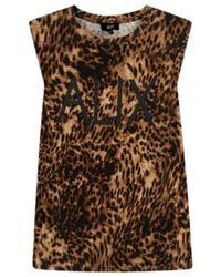 Alix The Label Jaguar t-shirt animal - 2105812165-601 - Marron
