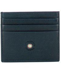 Aeronautica Militare Credit card holder in leather - Bleu