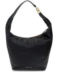 Marni Handbag With Logo - Zwart