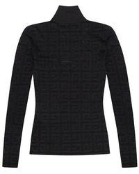 Givenchy Transparent Top With High Neck - Zwart