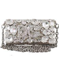 Dolce & Gabbana Clutch Cross Body Bag - Grijs