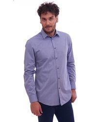 Trussardi Camicia Operata Close FIT - Blu