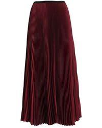 Paolo Fiorillo Capri Satin Pleated Skirt - Rosso