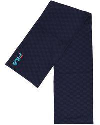 Fila Monogram Scarf - Bleu