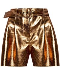 MSGM High-waisted Shorts - Geel