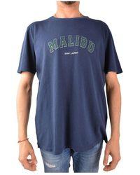 Saint Laurent Tee-shirt Malibu - Blauw