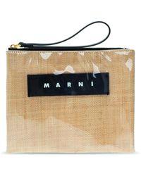 Marni - Logo Clutch - Lyst