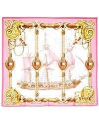 Hermès Printed Silk Scarf - Rosa