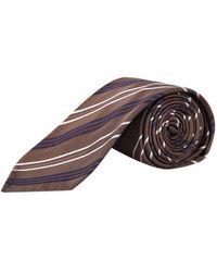 Lardini Striped tie - Marron
