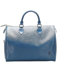 Louis Vuitton Pelle Epi Speedy 30 - Blu