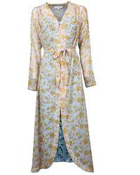 Silvian Heach Long Printed Dress - Blauw