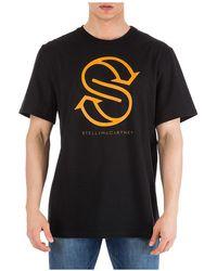 Stella McCartney Men's Short Sleeve T-shirt Crew Neckline Jumper - Zwart