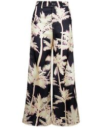 White Sand Hose mit floralem print - Negro