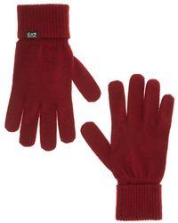 EA7 Gloves - Rood