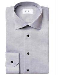 Eton Slim fit shirt - Schwarz