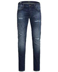 Jack & Jones 12177503 Slim Fit Jeans - Blauw