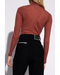 DIESEL Ribbed turtleneck sweater - Marron