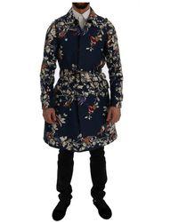 Dolce & Gabbana Jas Bird Trench - Blauw
