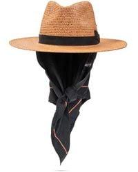 Nick Fouquet Mystic hat with shawl - Marron
