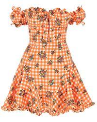 Alessandra Rich Dress - Orange