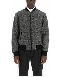 Dolce & Gabbana Micro Houndstooth Bomber Jacket - Grijs