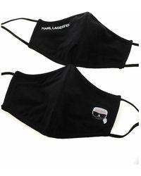 Karl Lagerfeld Protect Ikonik Mask 2 Set Negro