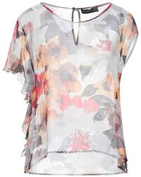 Alessandro Dell'acqua Patterned chiffon shirt Adw4142 / N0174-80 - Orange