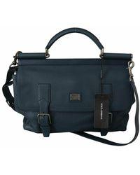 Dolce & Gabbana Shoulder Strap Satchel Borse Travel Bag - Blauw