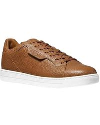 Michael Kors - Keating Pebbled Leather Sneakers - Lyst