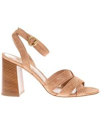 Gianvito Rossi Beya Sandals With Ankle Strap - Naturel