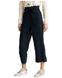 Superdry Pantalones Eden Linen - Blauw