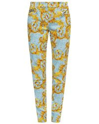 Versace Jeans Barocco-printed Jeans - Blauw