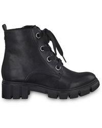 Tamaris Da Stiefel Flat Lace Boots - Zwart