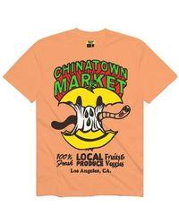 Chinatown Market T-shirt Smiley Local Apple - Geel
