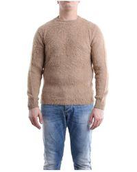 Daniele Alessandrini Fm904493905 Crewneck Knitwear - Naturel