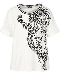 Marc Cain Shirt met luipaardmotief - Bianco