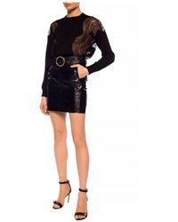 Givenchy - Jersey con ribete de encaje Negro - Lyst